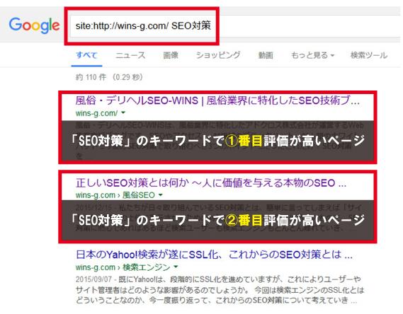 Googleページ評価画像